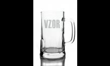 Sklenený krígeľ na pivo 0,5L - 026565