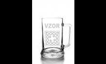 Sklenený krígeľ na pivo 0,5L - 026574